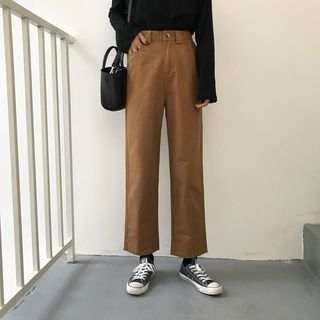 Moon City - Crop Straight Fit Pants