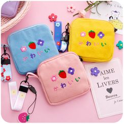 Momoi - Embroidered Zipper Pouch