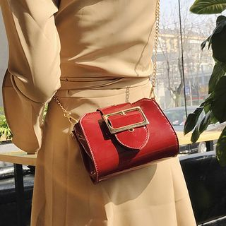Clair Fashion - Faux-Leather Crossbody Bag