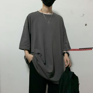 Banash - Oversize Elbow-Sleeve T-Shirt