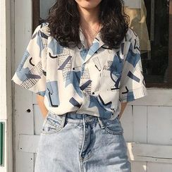 monroll - Printed Short-Sleeve Shirt