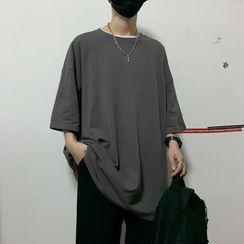 Banash - Oversize Elbow-Sleeve T-Shirt