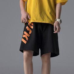Acrius(アクリウス) - Lettering Wide-Leg Shorts