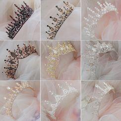 la Himi - 婚礼仿珍珠 / 人造水晶皇冠