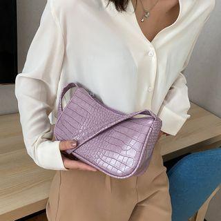 Lizzy - Croc Grain Shoulder Bag