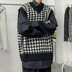 Deepwood(ディープウッド) - Houndstooth Sweater Vest