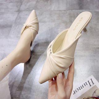 Novice(ノバイス) - Pointy-Toe High-Heel Mules