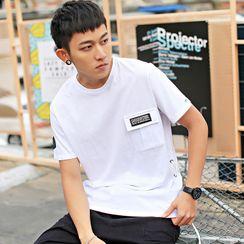 KANYO - 短袖口袋T裇