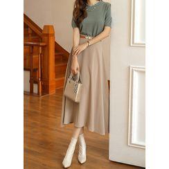 Styleonme - Long Flare Skirt