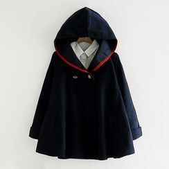 Mushijan - 連帽雙排扣外套