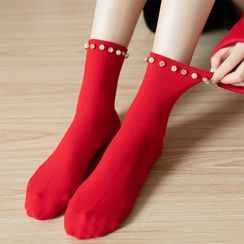 Rivara - 3 Pairs: Beaded Socks (Various Design)