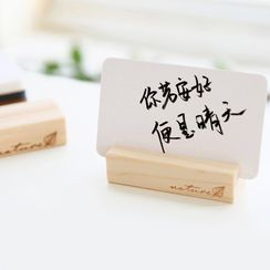 Cute Essentials - Wooden Memo / Name Card Holder