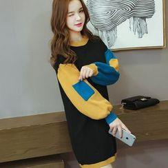 Champi - Panel Long-Sleeve Dress