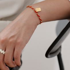 MOMENT OF LOVE - Tag Stainless Steel Red String Bracelet