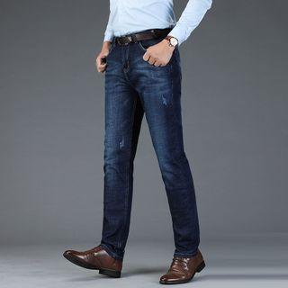 Denimic - Distressed Slim-Fit Jeans