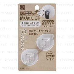 Kokubo - Pitacco Reusable Adhesive Hook Transparent