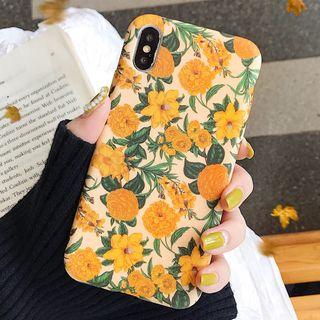 SIFFU - iPhone 6S / 6 Plus / 7 / 7 Plus / 8 / 8 Plus / X / XS / XS Max / XR - 花朵印花手机保护套