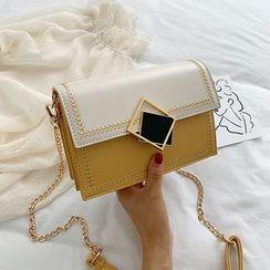 Szeta - Two-Tone Chain Strap Crossbody Bag