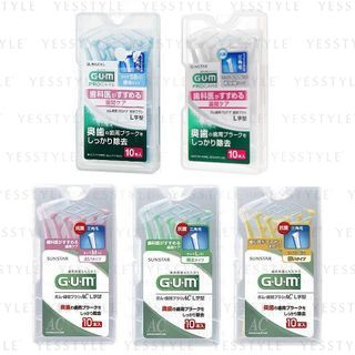 Sunstar - Gum Pro Care Interdental Brush L Shape 10 pcs - 5 Types