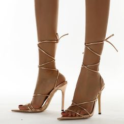 Niuna(二ウナ) - Lace Up High Heel Sandals