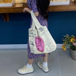 TangTangBags - Lettering Angel Print Tote Bag