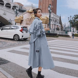 Ariadne - Double Breasted Sashed Trench Coat
