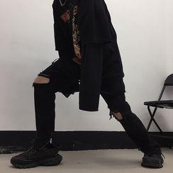 2DAWGS - 做舊窄身牛仔褲