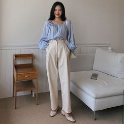 MERONGSHOP - High-Rise Wide-Leg Pants