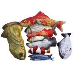 Dazzfur - 魚印花貓玩具