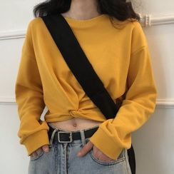 Chogen - Twisted Cropped Pullover