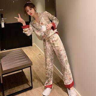 Endormi - Pajama Set: Printed Shirt + Pants