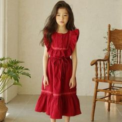 Cuckoo - Kids Sleeveless Midi A-line Dress