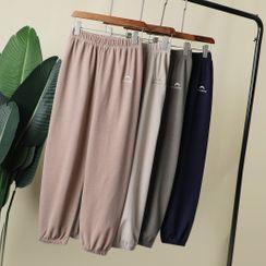 Shanti - 標誌刺繡家居褲