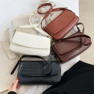 FAYLE - Plain Flap Shoulder Bag