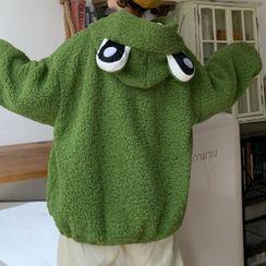Faybienne - Frog Eye Fleece Zip Hoodie