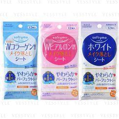 Kose - Softymo Makeup Removal Sheet 12 pcs - 3 Types