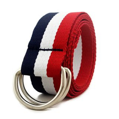 Coco Rush - Striped D-Ring Belt