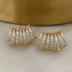 Amuik - Rhinestone Cuff Earring