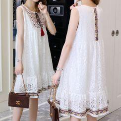 Empressa - Maternity Patterned  Sleeveless A-Line Dress