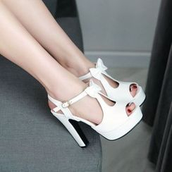 Shoes Galore - Bow High-heel Sandals