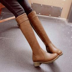Megan - Buckled Knee-High Boots