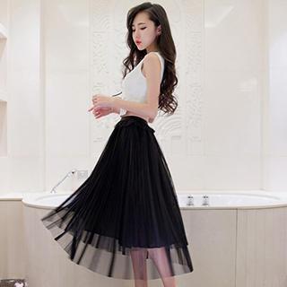 Aurora - Tulle Midi Skirt