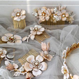Vivian Design - 婚礼花朵髪梳