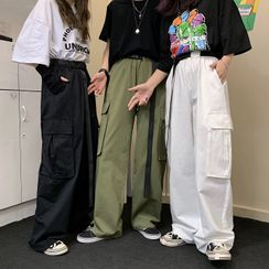 Blackcola(ブラックコーラ) - Cargo Straight Fit Pants