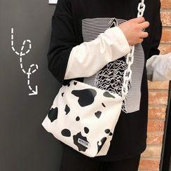 Hampa - Cow Print Canvas Crossbody Bag