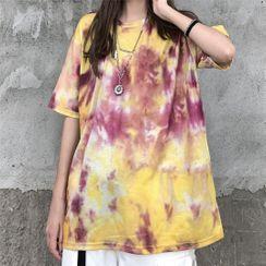 LINSI - Tie-Dye Print Short-Sleeve T-Shirt