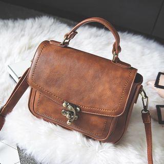 Selinda - Faux Leather Satchel Bag