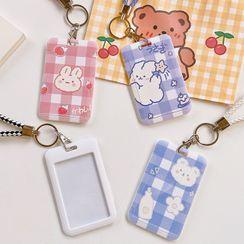 Eranso(エランソ) - Animal-Print Plaid Card Holder