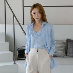 NAIN - Set: Shirt + Sleeveless Shirred Top