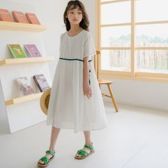 Cuckoo - Kids Short-Sleeve Midi A-Line Dress